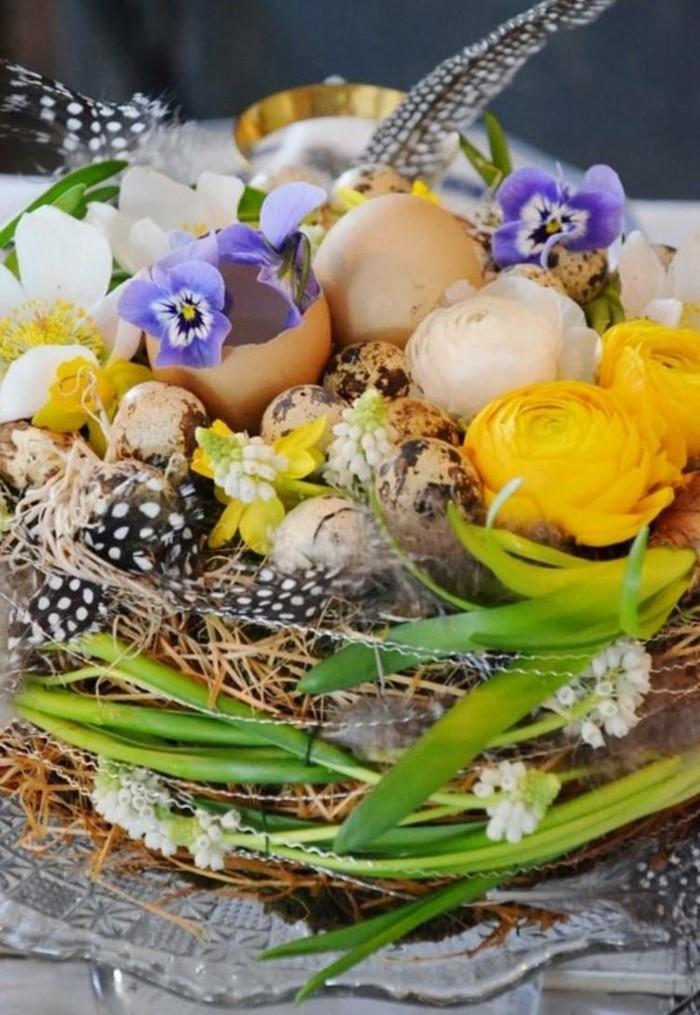 osterdeko basteln blumensorten tulpen ei feder