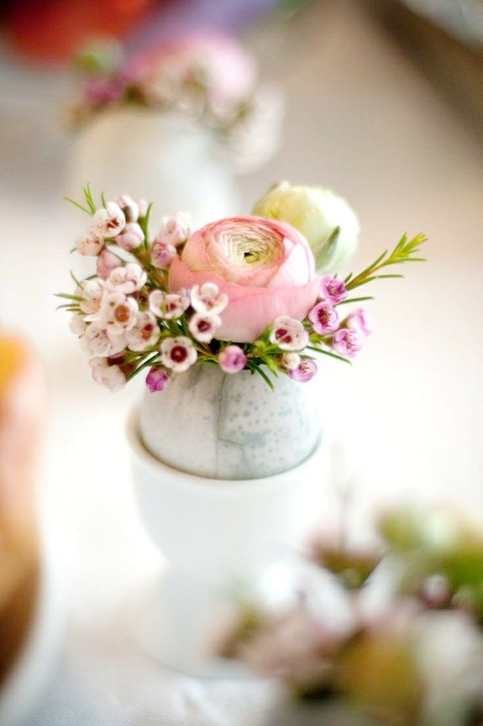 osterdeko basteln blumensorten tulpen ei