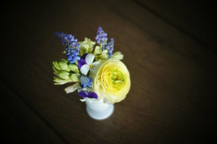 osterdeko basteln blumensorten tulpen mini strauß