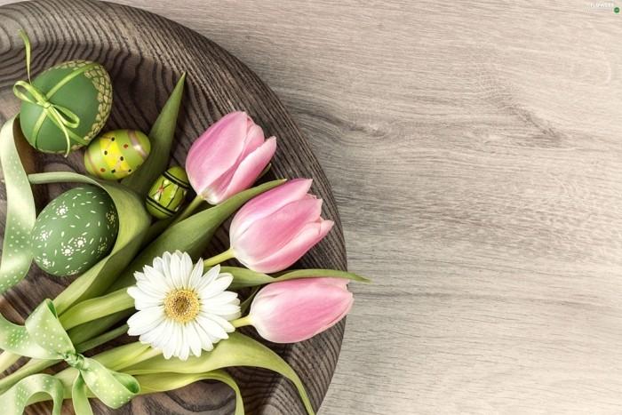 osterdeko basteln blumensorten tulpen