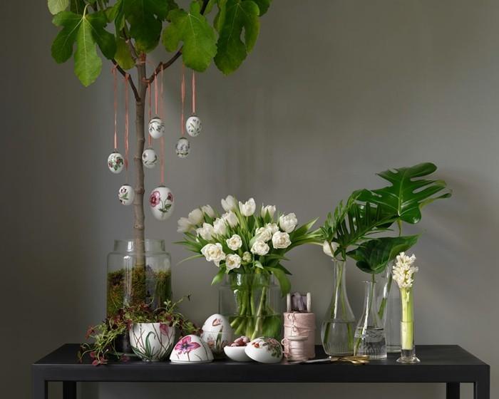 osterdeko basteln blumensorten weiße blüten