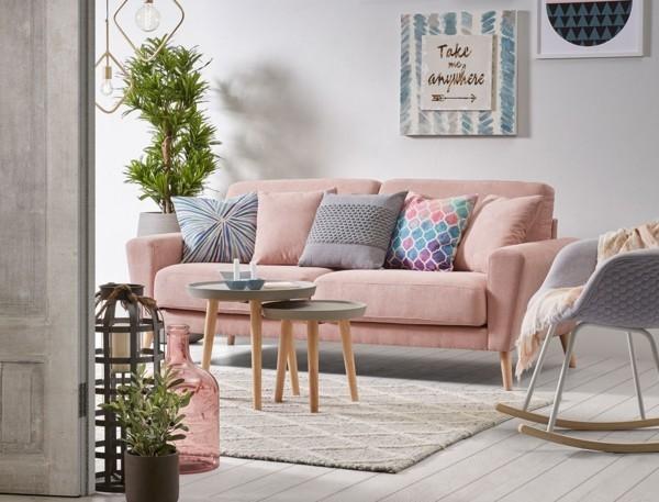pastellfarben dekokissen ideen wohnzimmer couch
