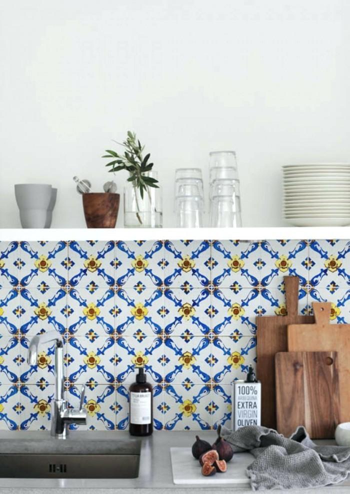 retro fliesen wohnidee küche schöne muster