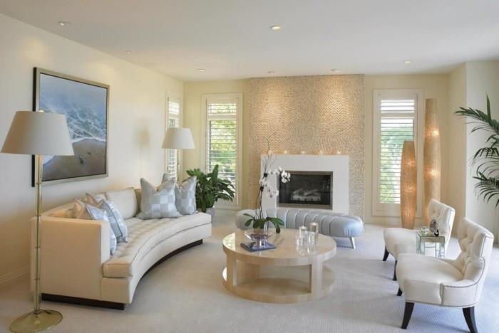 rundes sofa elegantes rundsofa wohnzimmer helle wohnzimmermöbel