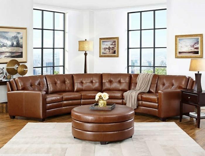 rundes sofa im wohnbereich 43 ideen f r bequeme und funktionale einrichtung. Black Bedroom Furniture Sets. Home Design Ideas