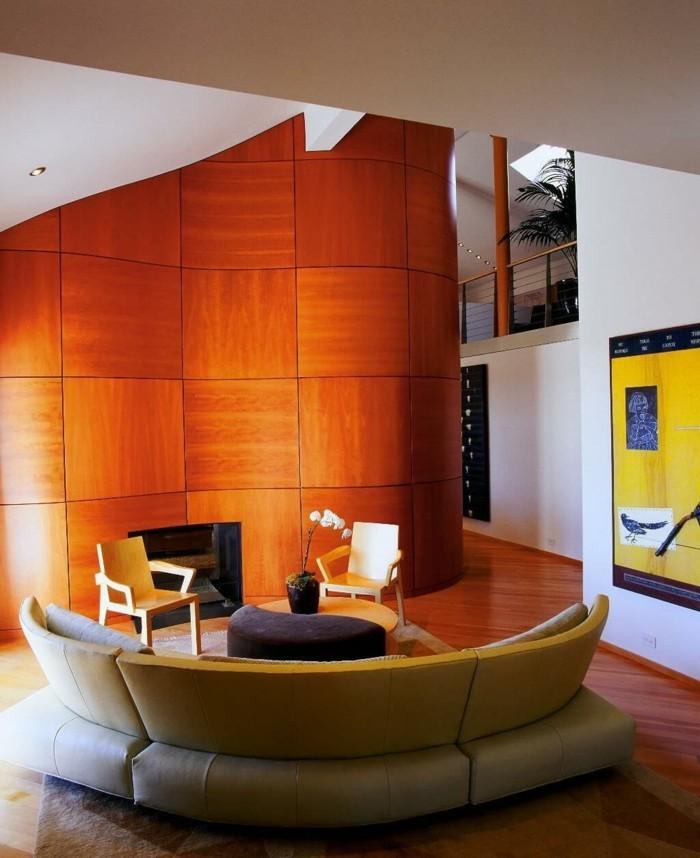 rundes sofa modernes wohnzimmersofa stühle feuerstelle orchidee