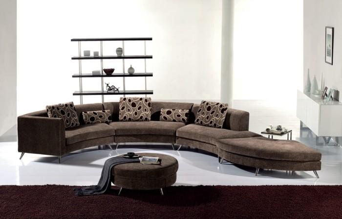 rundes sofa schick bequem bereiche absondern wohnzimmer