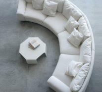 Rundes Sofa Im Wohnbereich 43 Ideen Fur Bequeme Und Funktionale Einrichtung