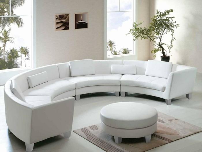 Rundes sofa im wohnbereich 43 ideen f r bequeme und for Rundsofa klein