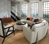 Rundes Sofa im Wohnbereich – 43 Ideen für bequeme und funktionale Einrichtung