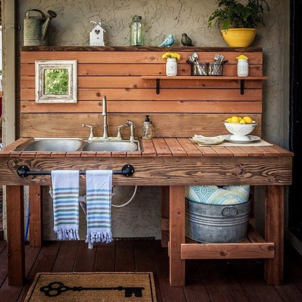 30 Best Images About Kitchen Gardening On Pinterest: Spültisch Für Den Außenbereich: Kreative Ideen Und