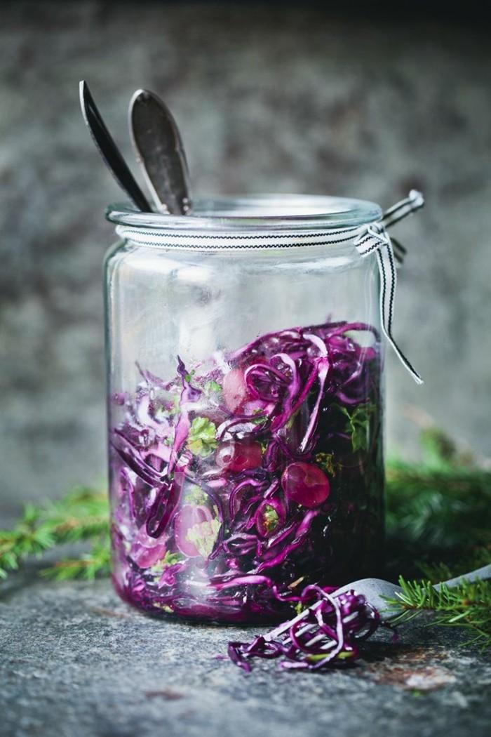 sauerkraut gesund rotkohl glas