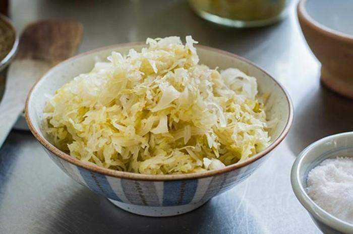sauerkraut gesund rotkohl portion