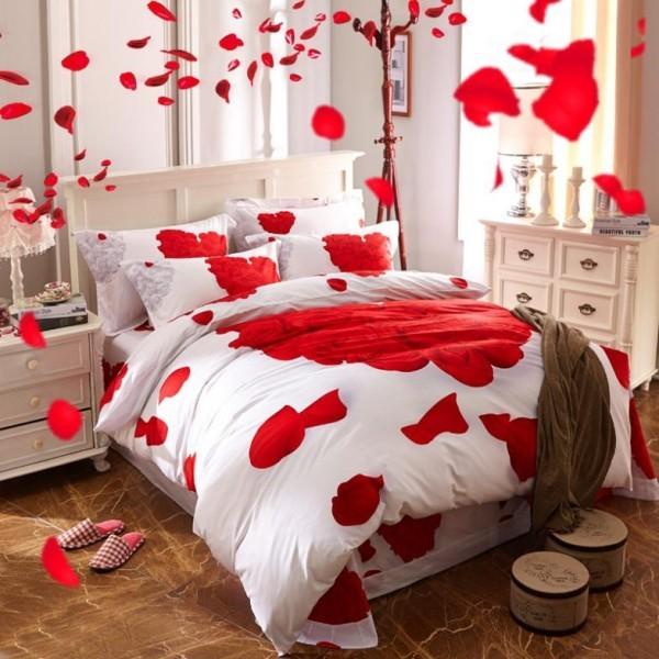 schlafzimmer dekorieren diy valentinstag ideen bettwäsche