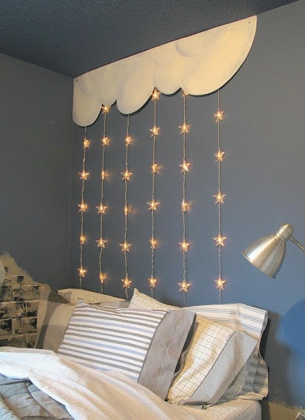 schlafzimmer kinderzimmer dekoration dekoideen mit licherketten