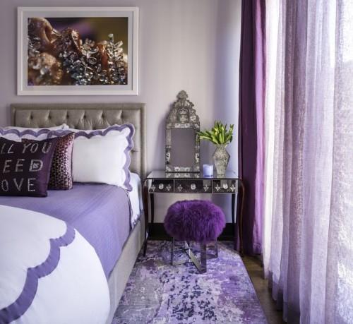schlafzimmer teppich feminine idee