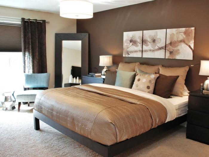 schokolade braune wandfarbe schlafzimmer farben
