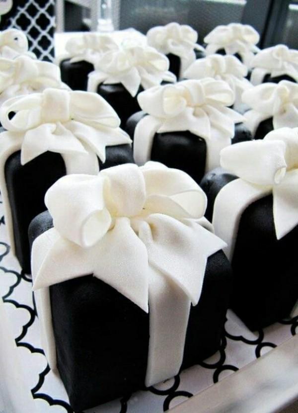 schwarz weiße kuchen mini torten