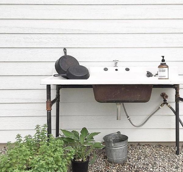 sp ltisch f r den au enbereich kreative ideen und. Black Bedroom Furniture Sets. Home Design Ideas