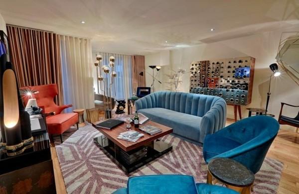 streifen teppich wohnzimmer deko trends 2018