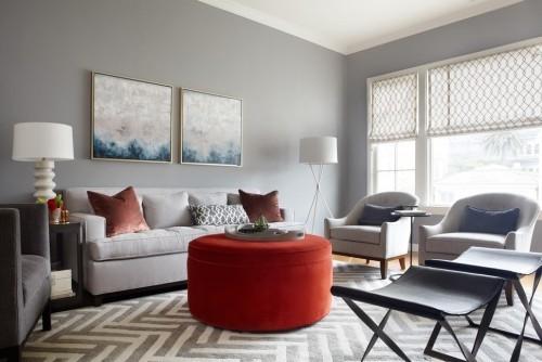 teppich für wohnzimmer geometrische figuren