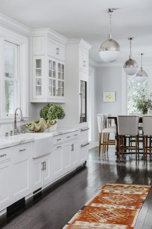 teppich für wohnzimmer geteilt mit küche