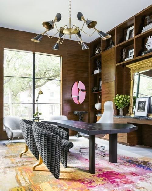 Teppich Für Wohnzimmer Rosa Und Gelb Romantisch
