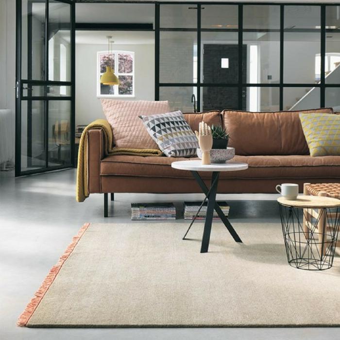 wohnzimmer einrichten ideen teppich mit fransen wohnzimmer modern einrichten