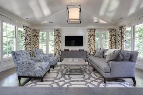 teppich wohnzimmer edel wirkende muster