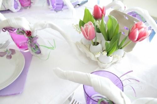 tischdeko diy ideen tulpen ostereier kleine ostergeschenke