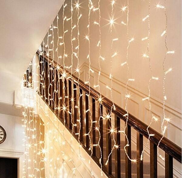 treppenhaus flur dekoideen mit lichterketten
