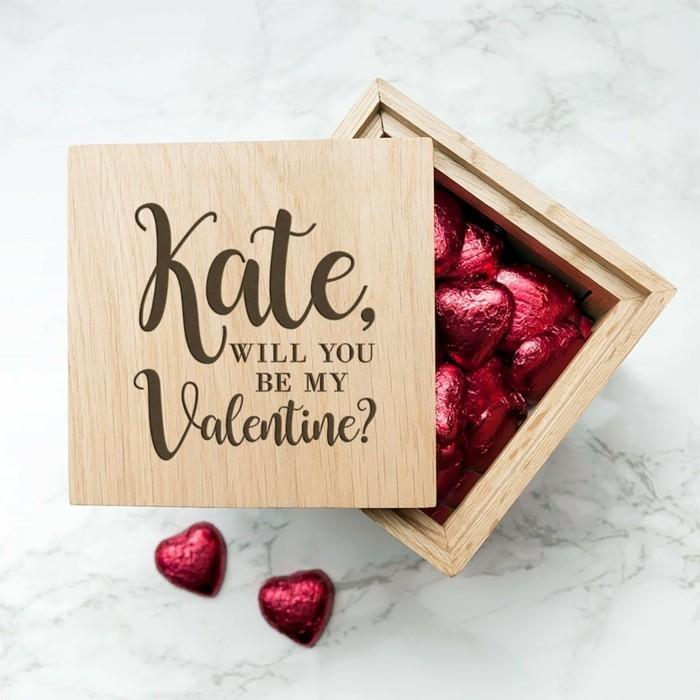 Valentinstagsgeschenk Personalisiertes Valentinstagsgeschenk Pralinen Kiste