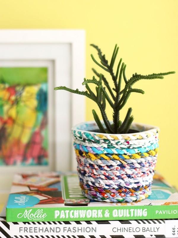 vase aus stoff nähen aus reststoffen