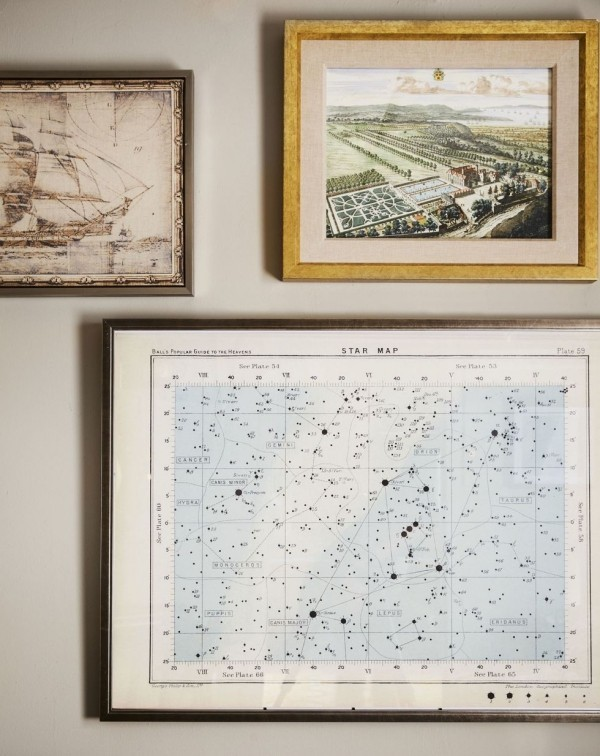 verschiedene farben antike landkarten dekoideen