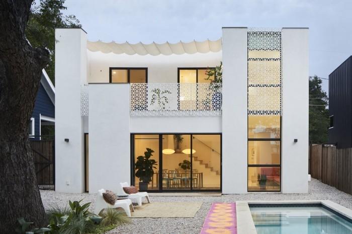 viele glasflächen Traumhaus fassadengestaltung