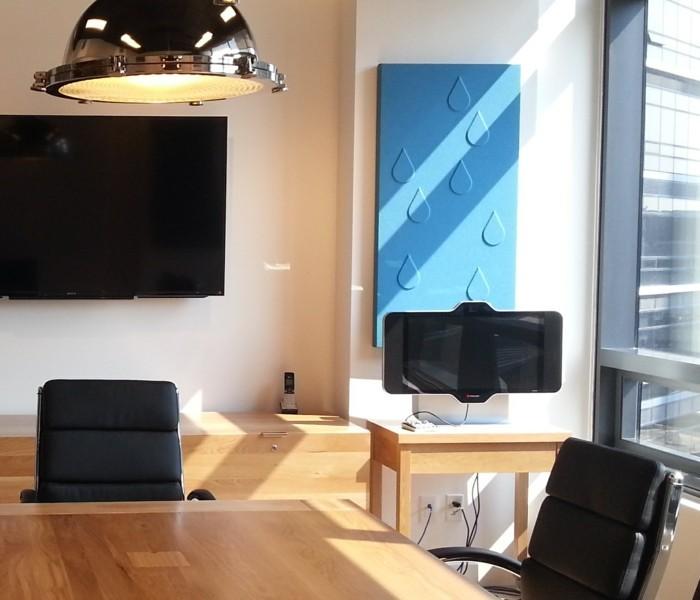 wanddekoration akustikpaneele raumakustik verbessern büro
