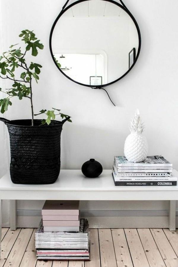 wandspiegel deko ideen einfache minimalistische formen