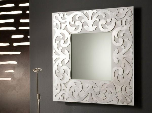 wandspiegel deko ideen weißer spiegel