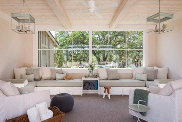 weiße beige dekokissen ideen wohnzimmer einrichten