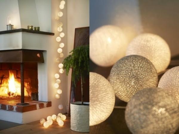 wohnzimmer dekorieren led lichterketten dekoideen