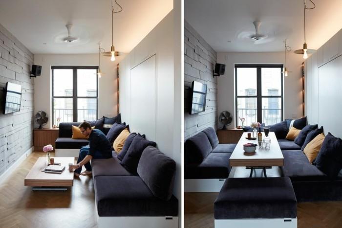 wohnzimmer raumakustik verbessern couch wandabsorber