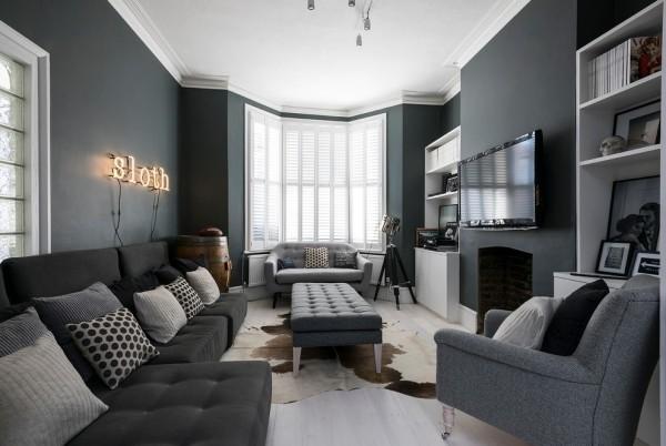 zimmer einrichten garue möbel graue wände wohnzimmer einrichten