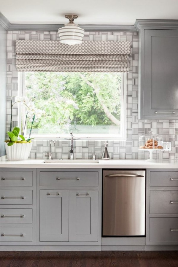 zimmer einrichten graue küchenfronten schöne küchenrückwand