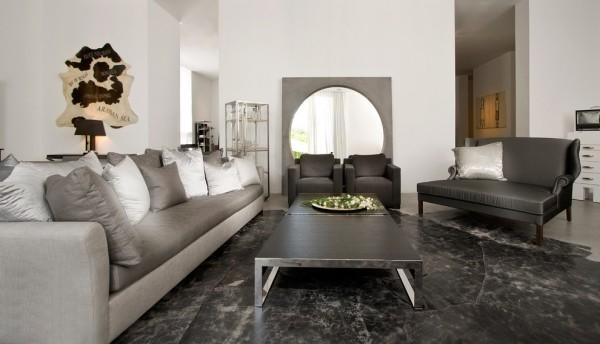 zimmer einrichten graue wohnzimmermöbel verschiedene nuancen