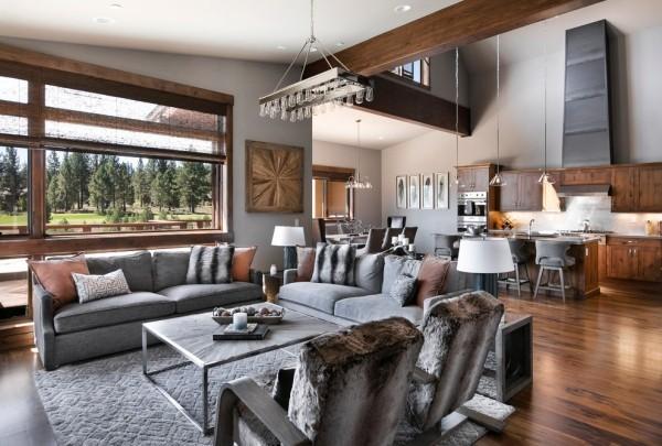 zimmer einrichten graues mobiliar grauer teppich