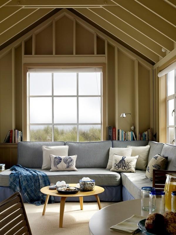 zimmer einrichten graues sofa schöne nautische dekokissen