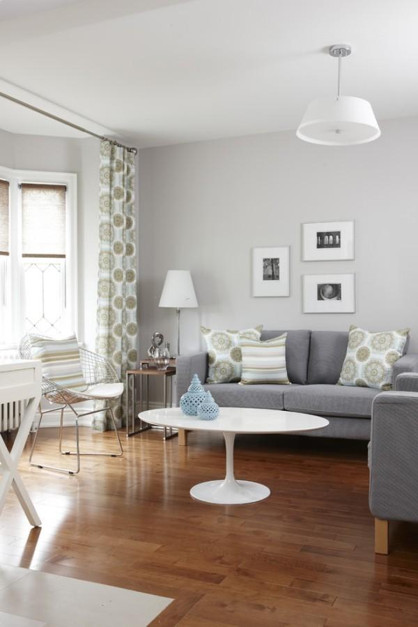 zimmer einrichten graues sofa weißer couchtisch skandinavisches flair