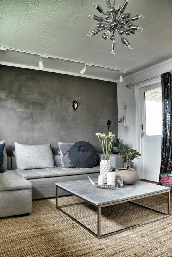 zimmer einrichten hellgraue möbel modernes design