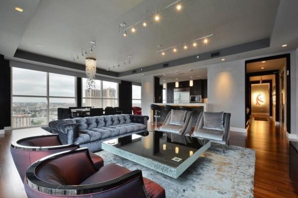 zimmer einrichten schicke einrichtung wohnzimmer graue möbelstücke