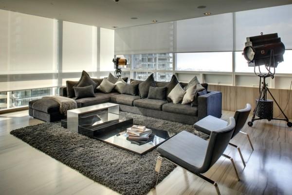 zimmer einrichten wohnzimmer graue möbelstücke geräumig